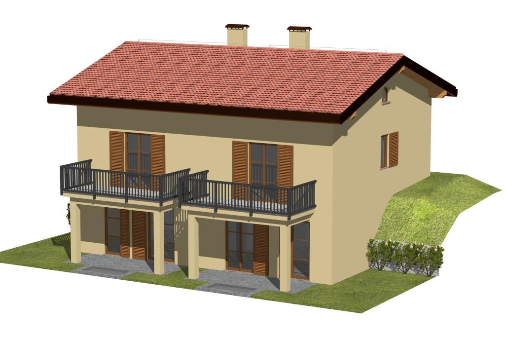 Appartamento in villetta con giardino impresa edile bonaiti - Immagini di villette con giardino ...